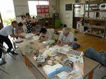 陶芸クラブ例会 素焼きの準備