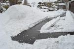 今朝の除雪